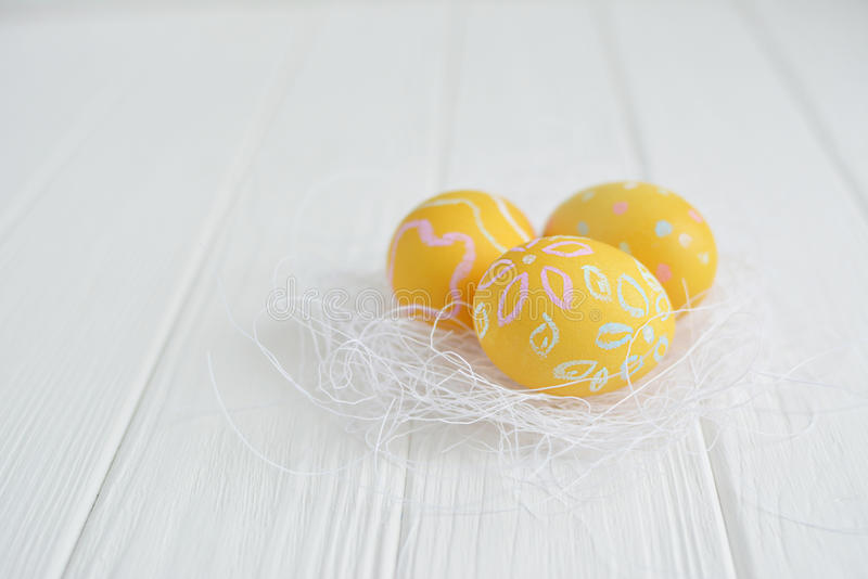 Download Easter Eggs Painted In Pastel Colors Stock Photo - Image: 83717139