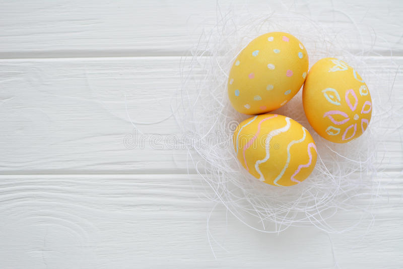Download Easter Eggs Painted In Pastel Colors Stock Photo - Image: 83717146