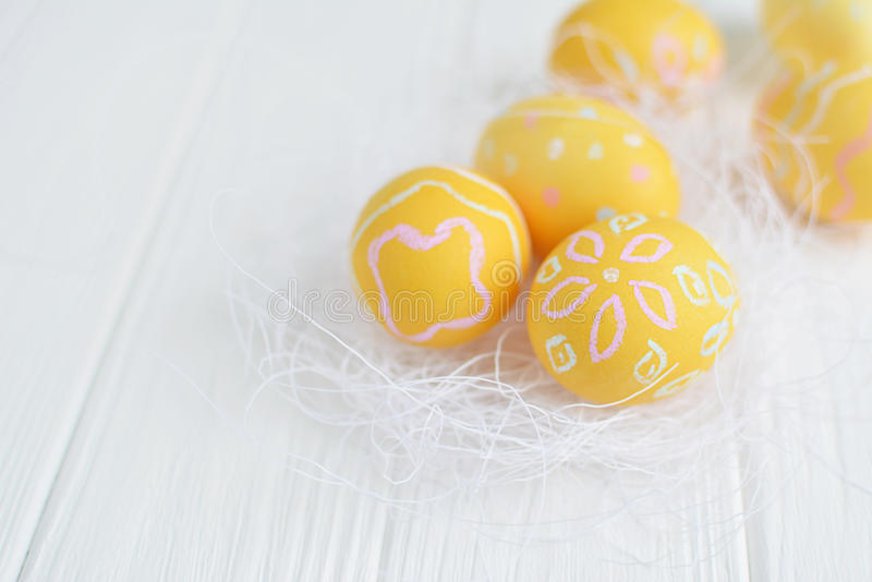 Download Easter Eggs Painted In Pastel Colors Stock Photo - Image: 83717858
