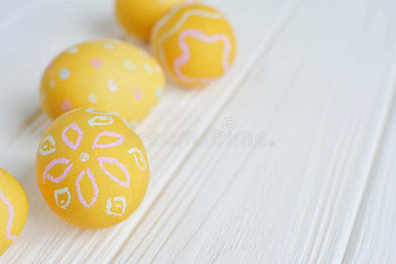 Download Easter Eggs Painted In Pastel Colors Stock Photo - Image: 83718186