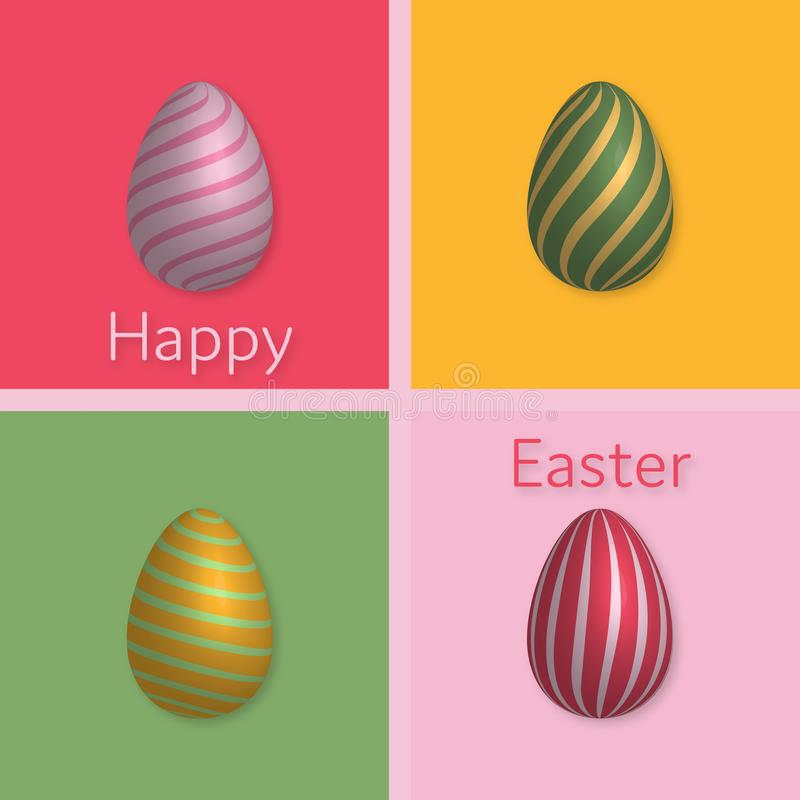 Happy Easter - Luxury stock illustration