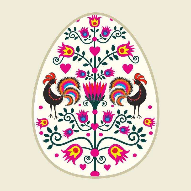 Easter eggs. Polish pattern folk - Easter eggs stock illustration