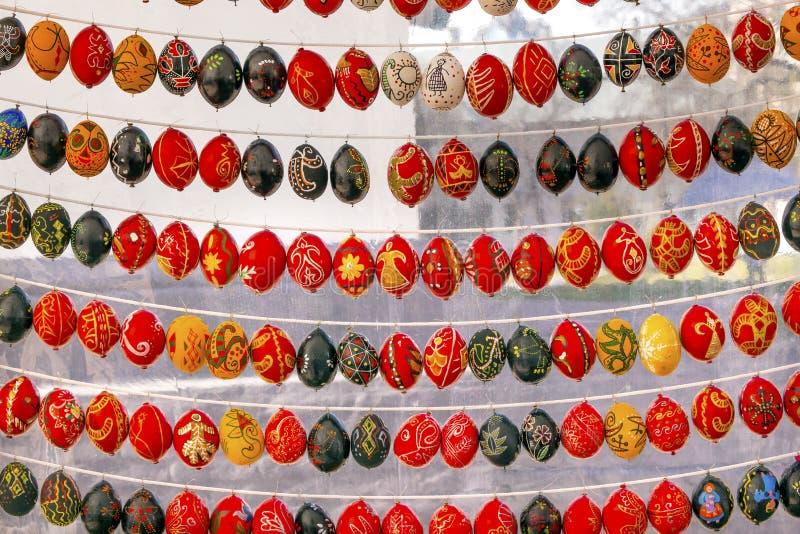Easter Eggs Saint Sophia Sofia Cathedral Kiev Ukraine stock photo