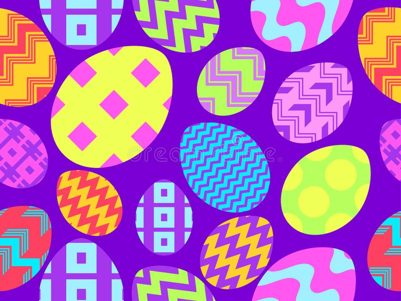 Easter eggs seamless pattern. Happy Easter background. Holiday greeting card. Vector vector illustration