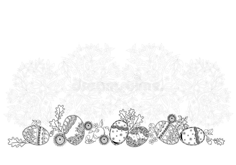 Easter eggs, Sketch collection illustration. Easter eggs. Background Sketch collection royalty free illustration