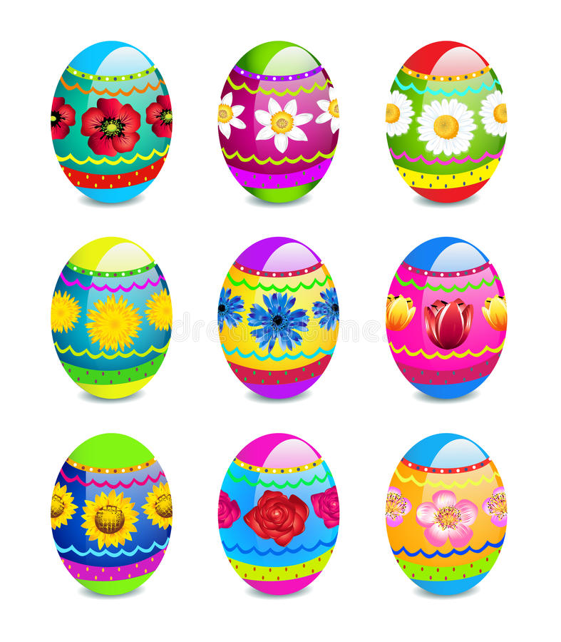 Download Easter Eggs With Spring Flowers Pattern Stock Vector - Image: 13470940