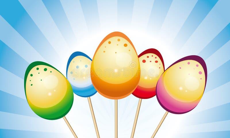 Easter eggs on sticks