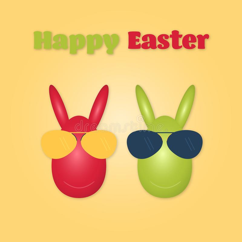 Happy Easter - bunny vector illustration