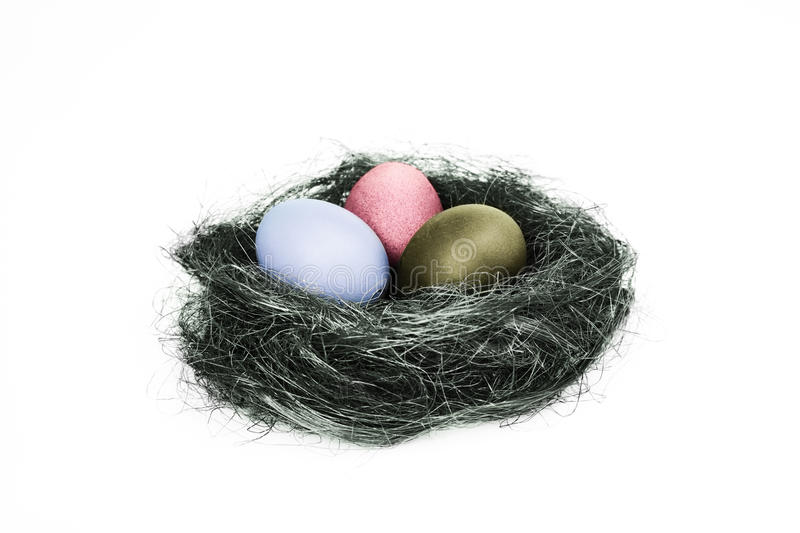 Download Easter eggs stock image. Image of yellow, nature, nide - 39513809