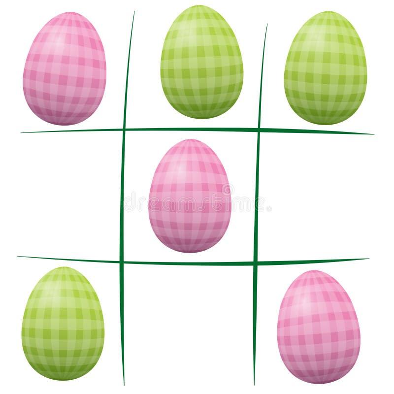 Easter Eggs Tic Tac Toe stock illustration