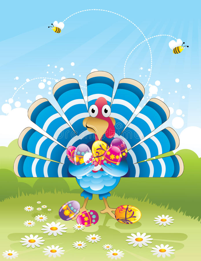 Download Easter eggs and turkey stock vector. Illustration of nature - 19542909