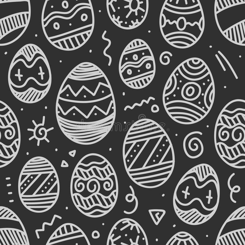 Easter eggs vector seamless background vector illustration