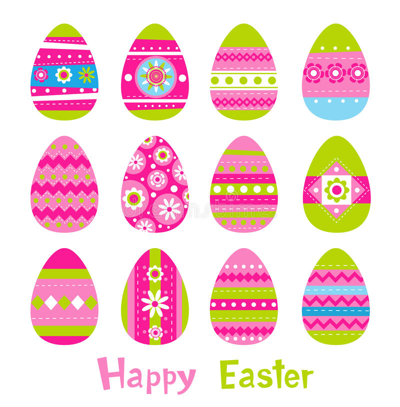 Easter eggs in vector royalty free illustration