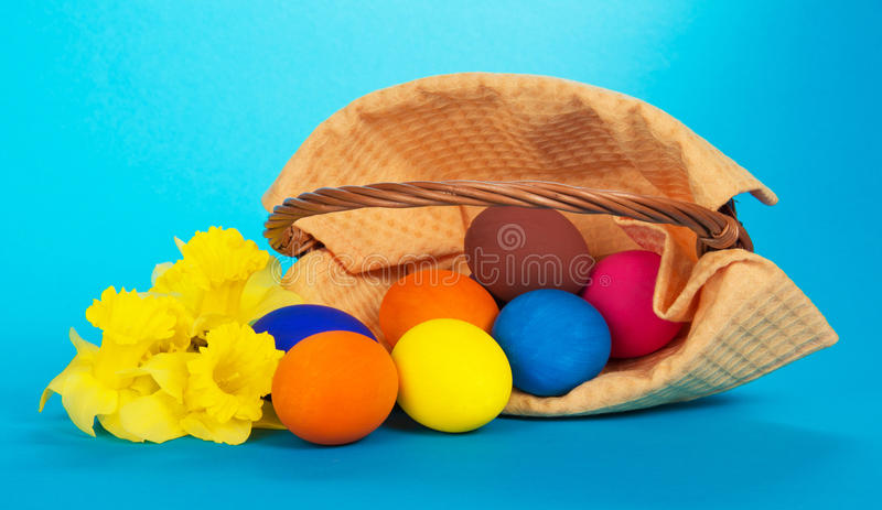 Download The Easter Eggs Which Have Dropped And Flowers Stock Image - Image: 41959341