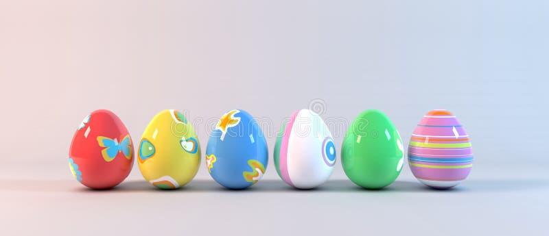 Download Easter Eggs on white stock illustration. Image of green - 28753175