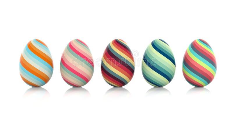 Easter eggs on white background. 3d illustration. Colorful easter eggs on white background. 3d illustration stock illustration