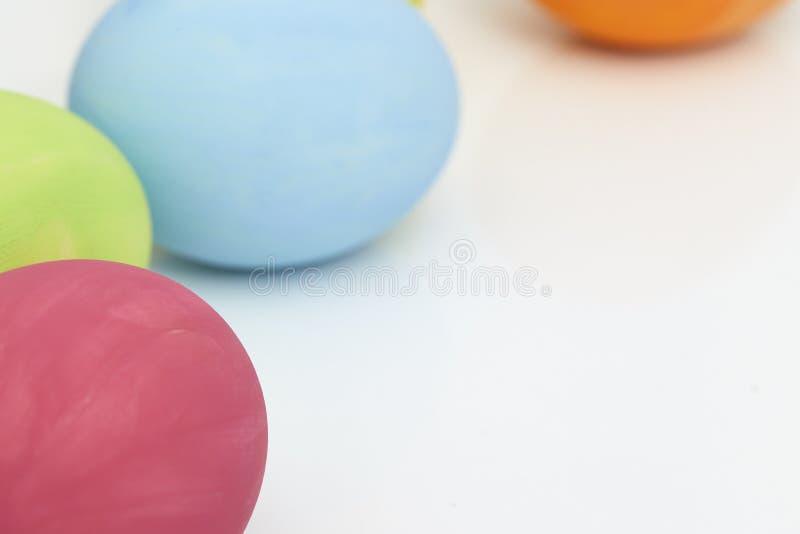 easter eggs on white royalty free stock photos