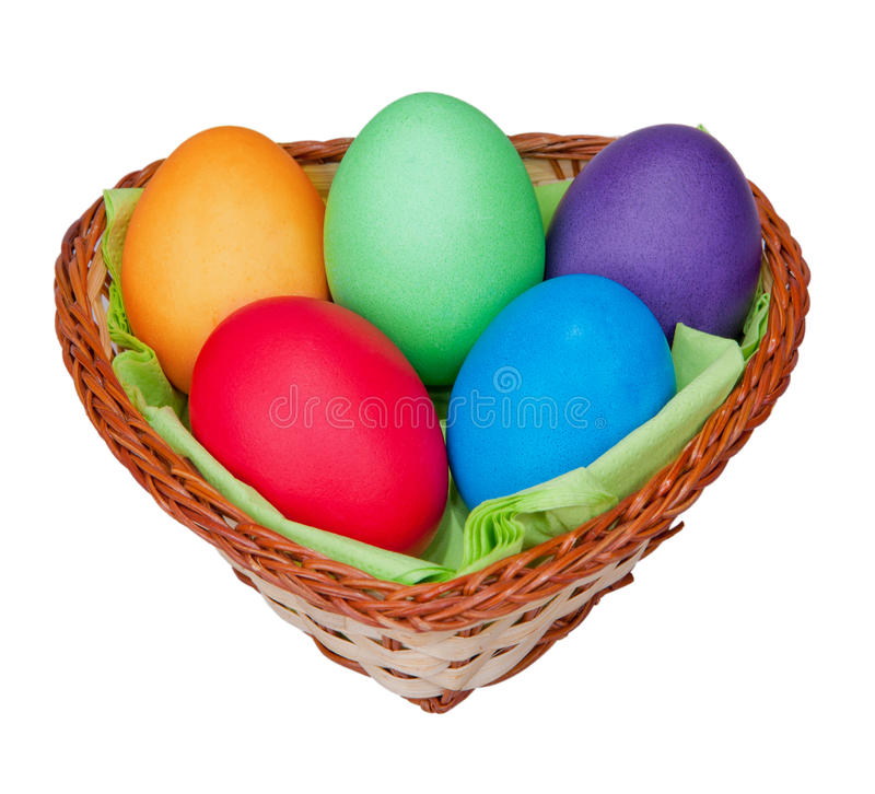 Download Easter egss in a basket stock photo. Image of household - 23656372