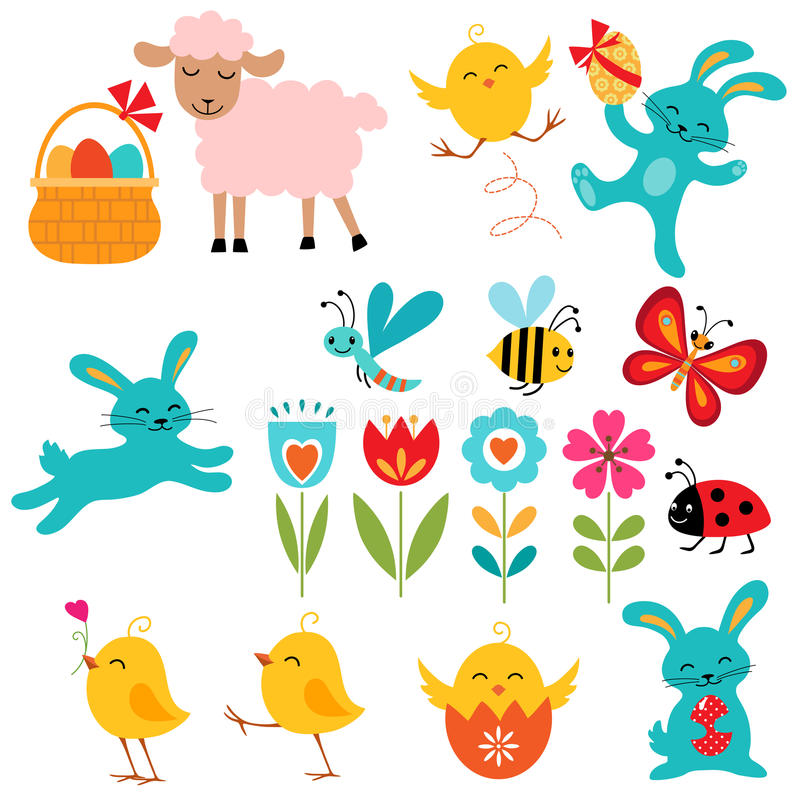 Easter elements royalty free illustration