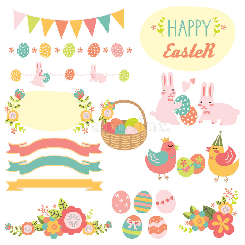 Easter Elements stock photography