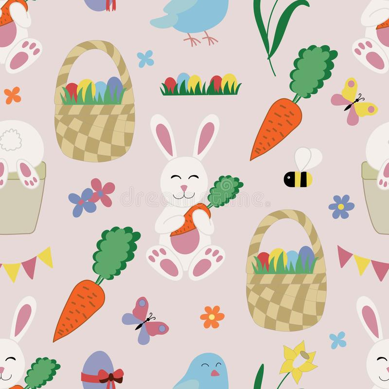 Easter Elements and Icons Set stock illustration