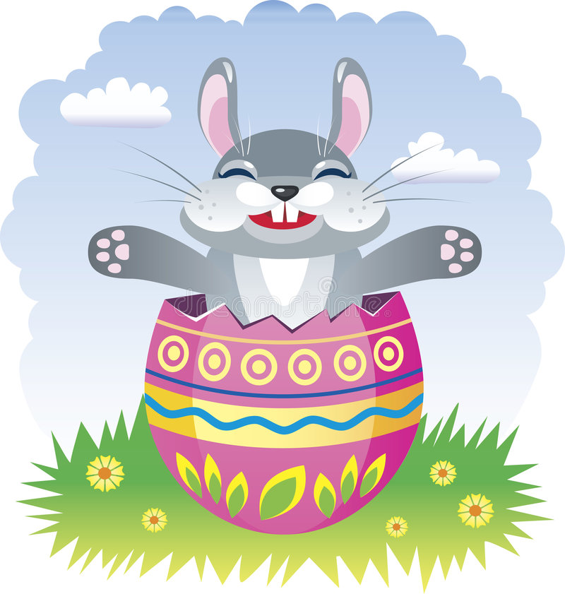 easter felik kanin stock illustrationer