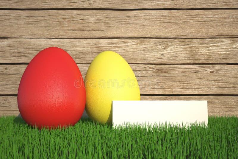Easter feliz abstrato com ovo colorido - ilustração ilustração stock