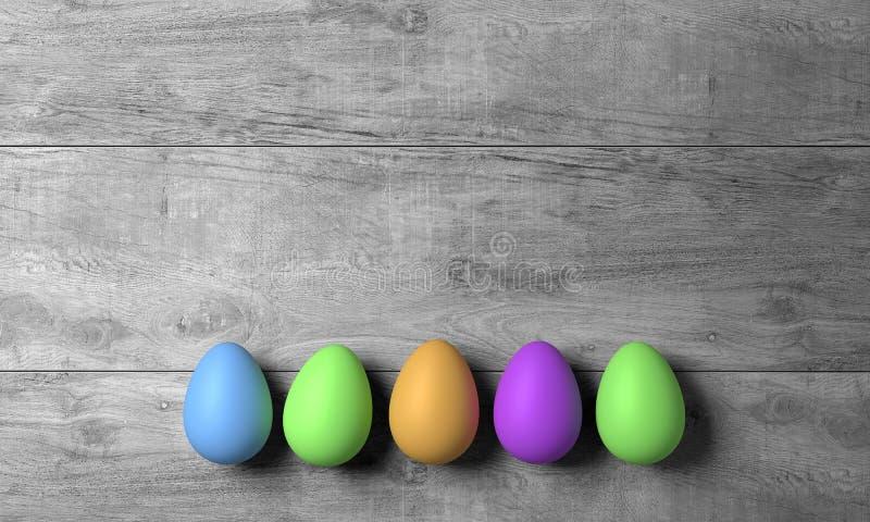 Easter feliz abstrato com ovo colorido - ilustração fotos de stock royalty free