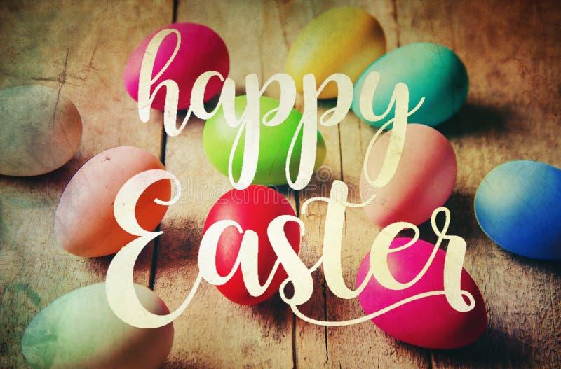 Easter feliz Foco seletivo foto de stock