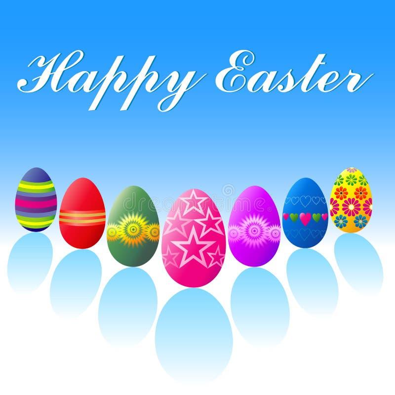 Easter feliz - ovos ilustração do vetor