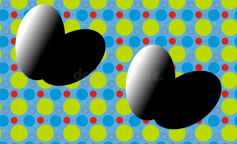 Easter feliz, preto, branco, c?u, azul, cor, ovo, ovo do la?o festival, grandes ovos combinados imagens de stock