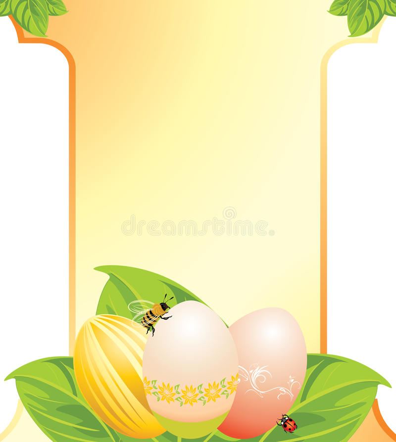 Easter Festive Card Royalty Free Stock Photography