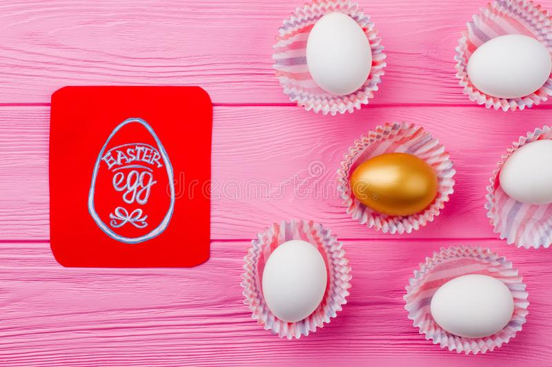 Easter festive composition with eggs. royalty free stock photo