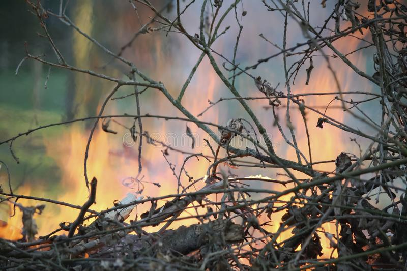 Easter fire in the gargen royalty free stock image