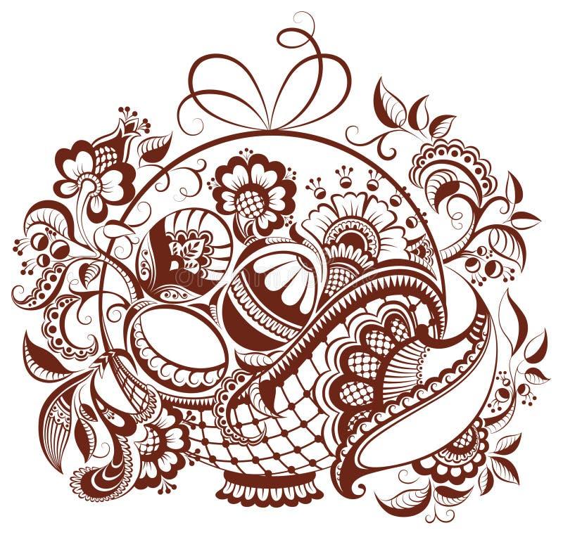 easter floral henna design stock vector illustration of graphic rh dreamstime com henna tattoo designs vector henna hand designs vector