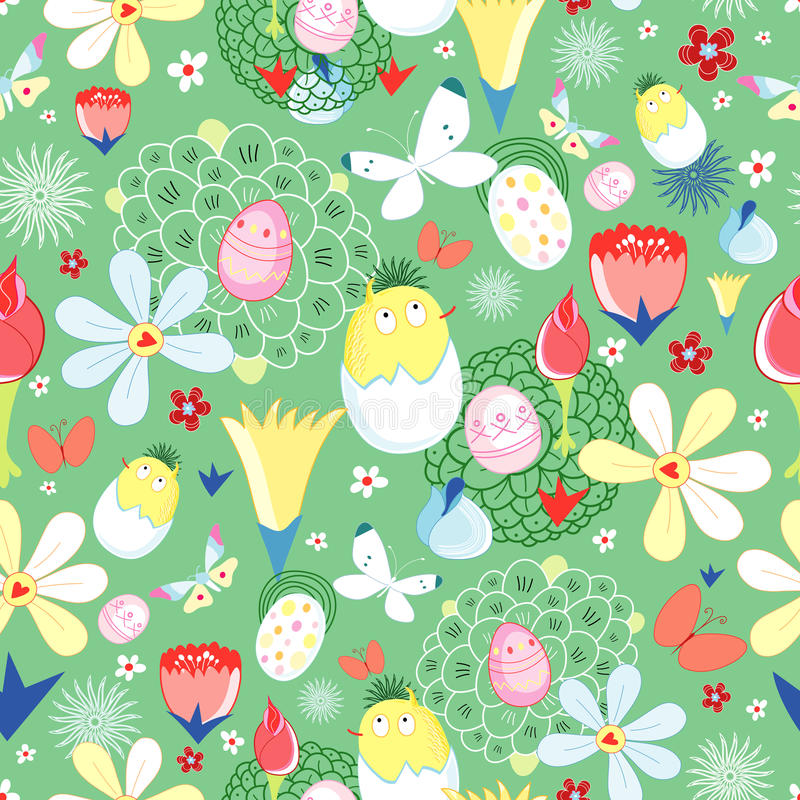 Easter flower texture vector illustration