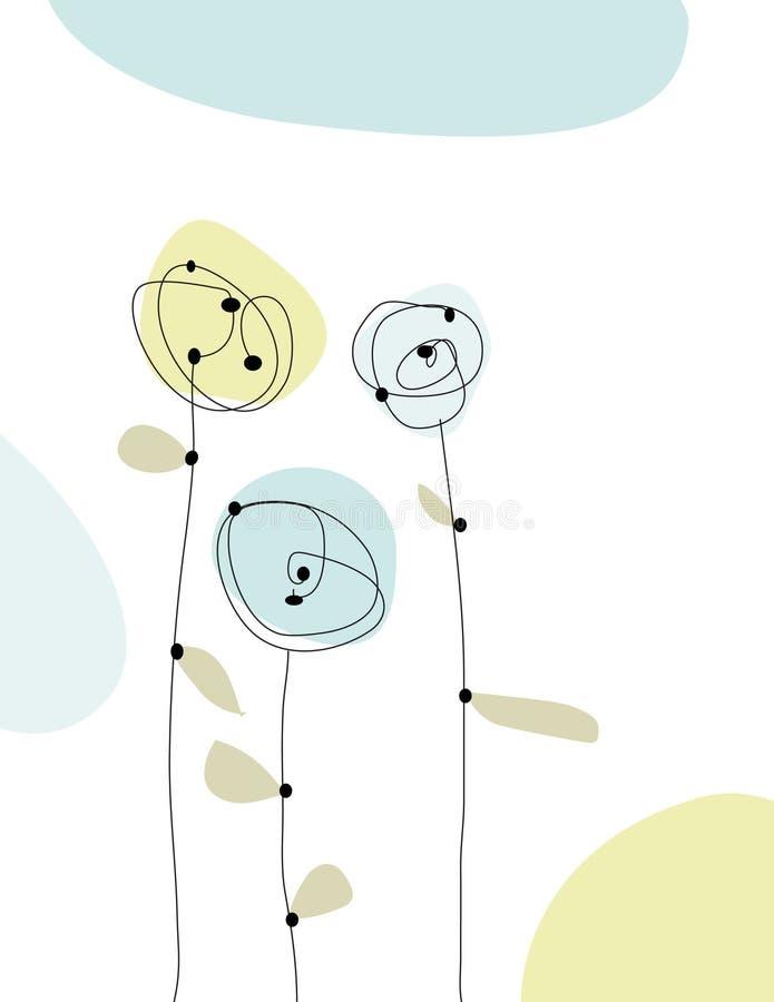 Simple Hand-drawn flowers vector illustration