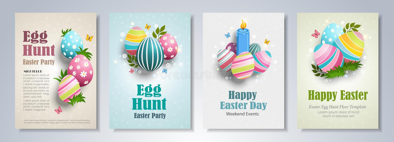 Easter flyers set stock vector illustration of invitation 113330140 download easter flyers set stock vector illustration of invitation 113330140 negle Image collections