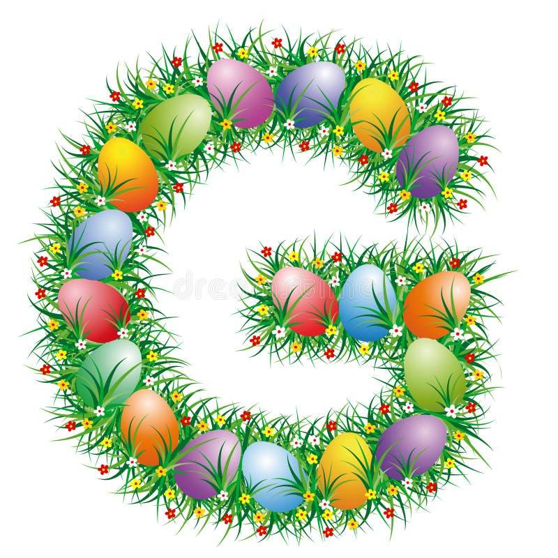 Easter Font Letter G Stock Photos