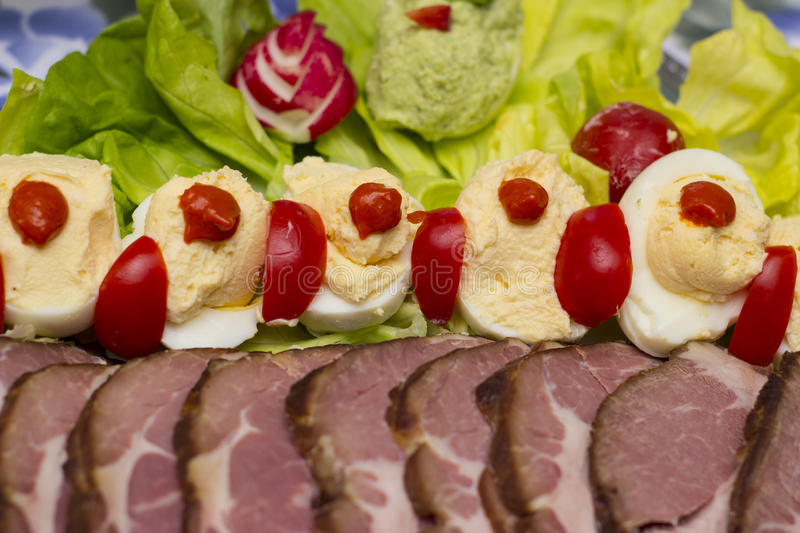 Easter food. Traditional hungarian easter food - food photography royalty free stock photo