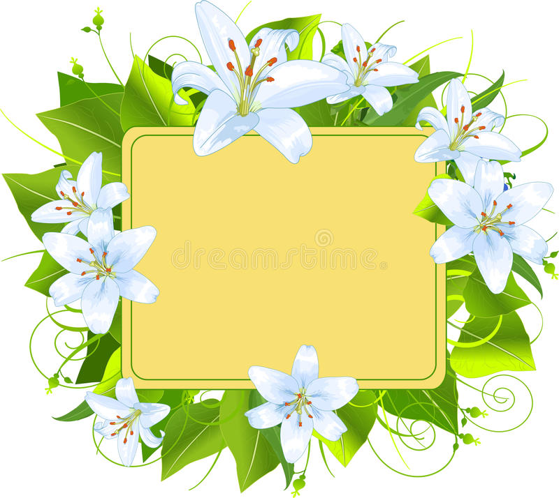 Download Easter frame stock vector. Image of plant, painting, floral - 19041446