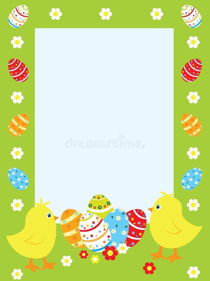 Easter frame stock illustration