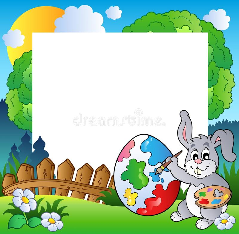 Download Easter Frame With Bunny Artist Stock Vector - Image: 18671655