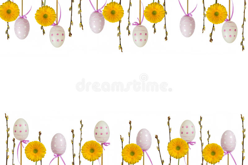 Easter frame 2 royalty free stock photos