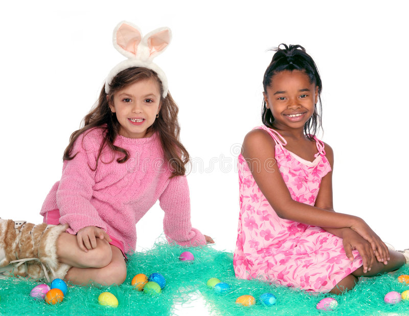 Easter friends stock images
