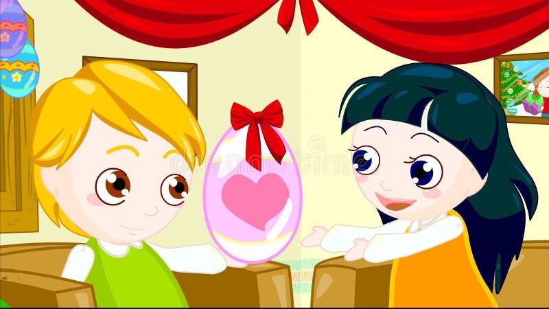 Download Easter gift stock illustration. Image of children, holiday - 17458710