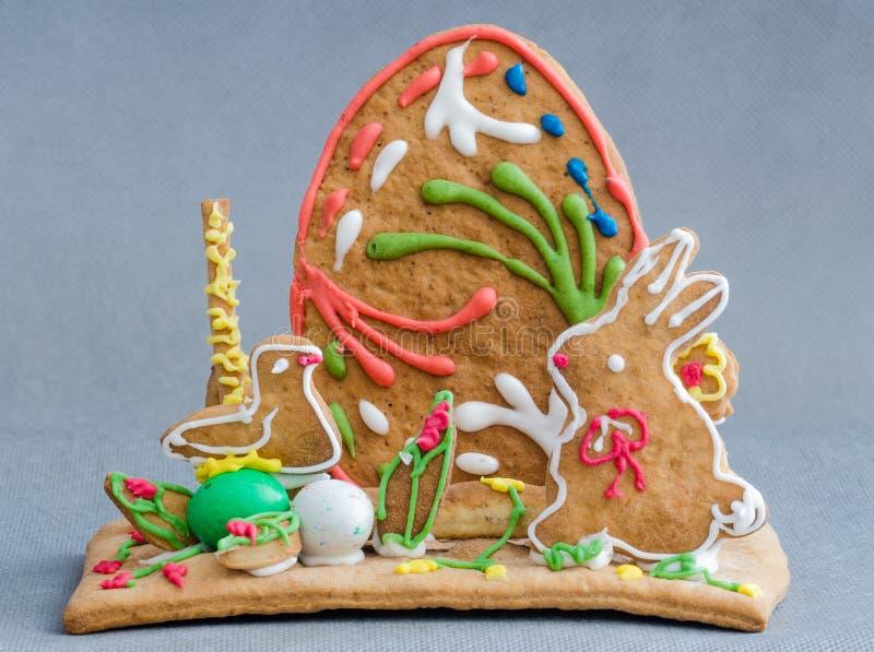 Easter gingerbread. Sweet coke egg stock images
