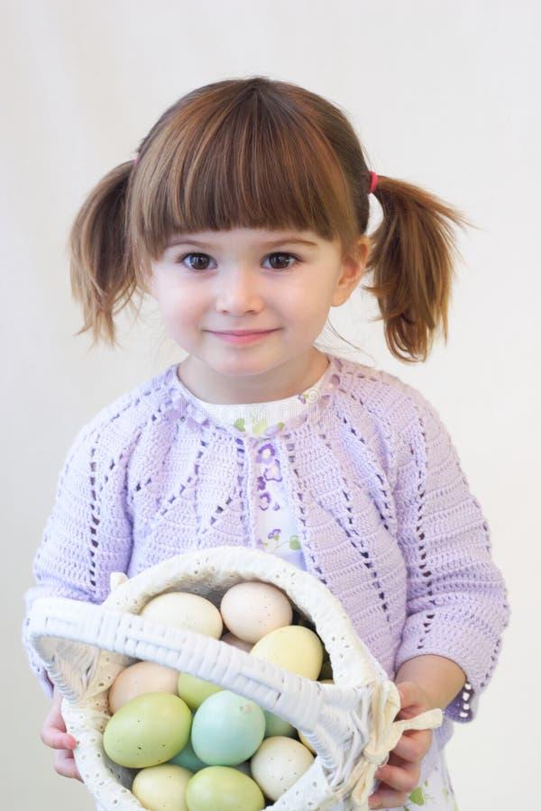Easter girl stock photo