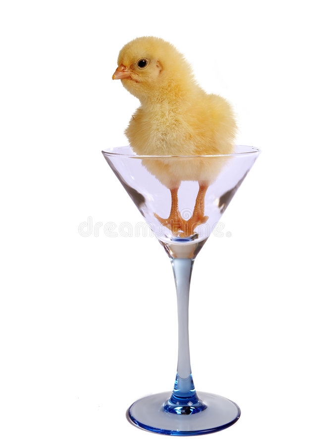 Easter in a glass stock photos