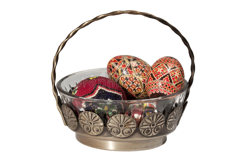 Easter Glass Basket Stock Image